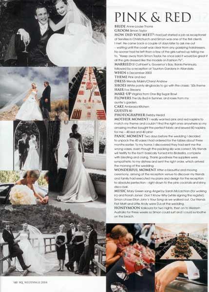 Fashion Quarterly Weddings 2004