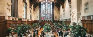 Wedding reception in the Great Hall